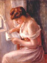 """Картина """"A girl reading"""" художника """"Ренуар Пьер Огюст"""""""