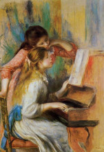 "Репродукция картины ""girls at the piano"" художника ""ренуар пьер огюст"""