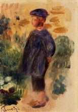 "Копия картины ""portrait of a kid in a beret"" художника ""ренуар пьер огюст"""