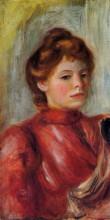 """Репродукция картины """"Portrait of a Woman"""" художника """"Ренуар Пьер Огюст"""""""