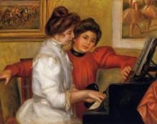 "Копия картины ""Young Girls at the Piano"" художника ""Ренуар Пьер Огюст"""