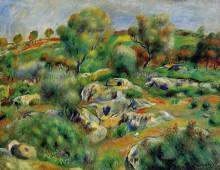 """Копия картины """"breton landscape"""" художника """"ренуар пьер огюст"""""""
