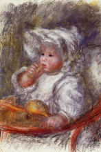 """Копия картины """"jean renoir in a chair (child with a biscuit)"""" художника """"ренуар пьер огюст"""""""