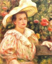 "Копия картины ""Lady with white hat"" художника ""Ренуар Пьер Огюст"""