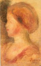 """Репродукция картины """"Portrait of a Young Girl"""" художника """"Ренуар Пьер Огюст"""""""