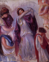 "Картина ""Scene Antique Femmes aux Peplums"" художника ""Ренуар Пьер Огюст"""