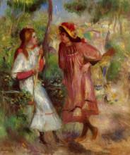 "Копия картины ""Two Girls in the Garden at Montmartre"" художника ""Ренуар Пьер Огюст"""