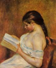 "Картина ""young girl reading"" художника ""ренуар пьер огюст"""
