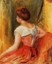 """Картина """"seated young woman"""" художника """"ренуар пьер огюст"""""""