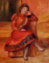 "Копия картины ""Spanish Dancer in a Red Dress"" художника ""Ренуар Пьер Огюст"""