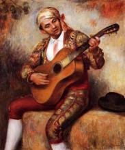 "Репродукция картины ""The Spanish Guitarist"" художника ""Ренуар Пьер Огюст"""