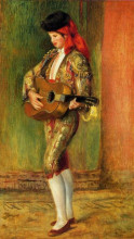 "Картина ""young guitarist standing"" художника ""ренуар пьер огюст"""