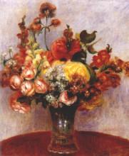 """Репродукция картины """"Flowers in a vase"""" художника """"Ренуар Пьер Огюст"""""""