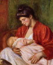 "Картина ""Young Mother"" художника ""Ренуар Пьер Огюст"""