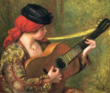 "Картина ""young spanish woman with a guitar"" художника ""ренуар пьер огюст"""
