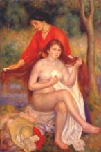 "Картина ""bather and maid (the toilet)"" художника ""ренуар пьер огюст"""