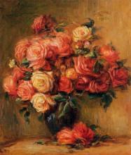"""Репродукция картины """"bouquet of roses"""" художника """"ренуар пьер огюст"""""""