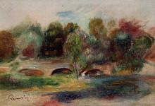 "Картина ""landscape with bridge"" художника ""ренуар пьер огюст"""