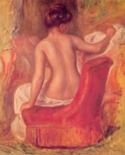 "Репродукция картины ""nude in a chair"" художника ""ренуар пьер огюст"""