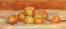 "Репродукция картины ""Apples and Manderines"" художника ""Ренуар Пьер Огюст"""
