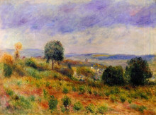 """Репродукция картины """"Landscape Auvers sur Oise"""" художника """"Ренуар Пьер Огюст"""""""