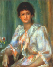 "Картина ""portrait of a young woman in white"" художника ""ренуар пьер огюст"""
