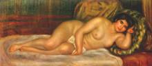 """Копия картины """"reclining nude (gabrielle)"""" художника """"ренуар пьер огюст"""""""