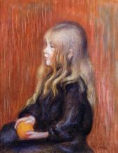 "Копия картины ""coco holding a orange"" художника ""ренуар пьер огюст"""