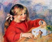"""Копия картины """"Claude Renoir at play Sun"""" художника """"Ренуар Пьер Огюст"""""""