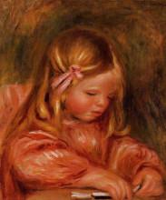 "Копия картины ""Claude Renoir Playing with Dominos"" художника ""Ренуар Пьер Огюст"""