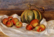 "Репродукция картины ""still life with cantalope and peaches"" художника ""ренуар пьер огюст"""