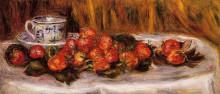 "Картина ""still life with strawberries"" художника ""ренуар пьер огюст"""