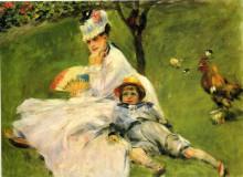 """Копия картины """"камилла моне и её сын жан в саду в аржантее"""" художника """"ренуар пьер огюст"""""""