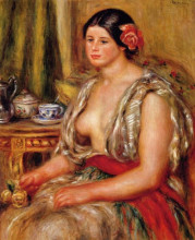 "Картина ""Young Woman Seated in an Oriental Costume"" художника ""Ренуар Пьер Огюст"""