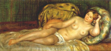 "Картина ""Nude reclining on cushions"" художника ""Ренуар Пьер Огюст"""