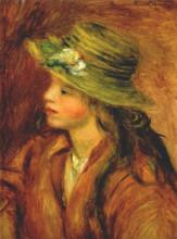 "Копия картины ""Girl with a straw hat"" художника ""Ренуар Пьер Огюст"""