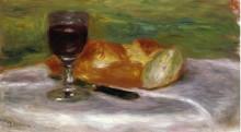 """Копия картины """"glass of wine"""" художника """"ренуар пьер огюст"""""""