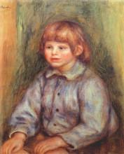 "Картина ""seated portrait of claude renoir"" художника ""ренуар пьер огюст"""