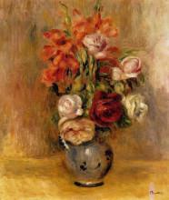 "Картина ""Vase of Gladiolas and Roses"" художника ""Ренуар Пьер Огюст"""