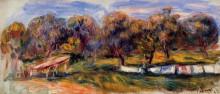 """Репродукция картины """"Landscape with Orchard"""" художника """"Ренуар Пьер Огюст"""""""