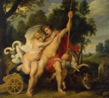 "Картина ""Venus and Adonis"" художника ""Рубенс Питер Пауль"""