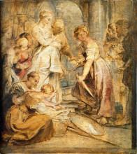 "Репродукция картины ""Achilles and the Daughters of Lykomedes"" художника ""Рубенс Питер Пауль"""