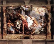 "Картина ""The Victory of Eucharistic Truth over Heresy"" художника ""Рубенс Питер Пауль"""