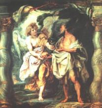 "Копия картины ""The Prophet Elijah Receiving Bread and Water from an Angel"" художника ""Рубенс Питер Пауль"""