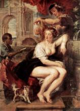 """Репродукция картины """"bathsheba at the fountain"""" художника """"рубенс питер пауль"""""""