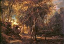 "Картина ""Forest Landscape at the Sunrise"" художника ""Рубенс Питер Пауль"""