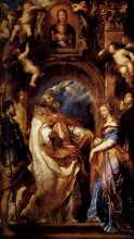 """Репродукция картины """"saint gregory with saints domitilla, maurus, and papianus"""" художника """"рубенс питер пауль"""""""
