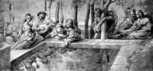 "Репродукция картины ""The Society near Fountain"" художника ""Рубенс Питер Пауль"""