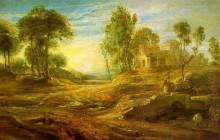 """Репродукция картины """"landscape with a watering place"""" художника """"рубенс питер пауль"""""""