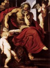 "Копия картины ""St. Jerome in His Hermitage"" художника ""Рубенс Питер Пауль"""